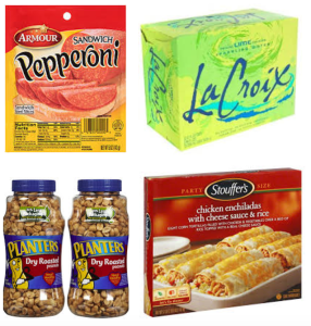 New Stouffer's, Armour Snacks, Planters Peanuts, & LaCroix Sparkling Water