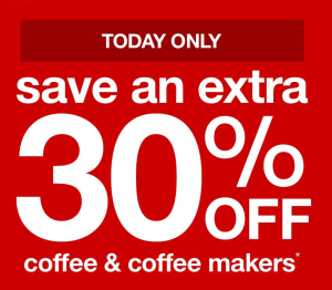 Target 30 off coffee makers