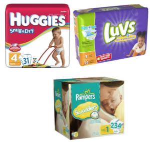 Huggies, Pampers, & Luvs Baby