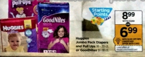 Rite Aid: Super Amazing Huggies & Pull-Ups Deal -  Starting Sunday 1/08