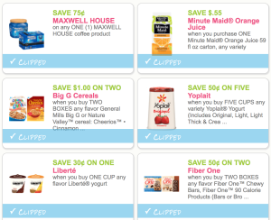 New Minute Maid Juice, General Mill, Post, Skippy, Yoplait, Maxwell House and More Breakfast & Snacks Coupons