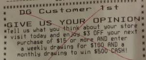 Dollar General $3 off $15