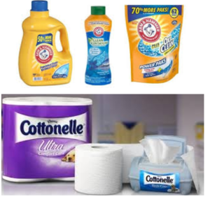 New Arm & Hammer Detergent, Purex Detergent, Xtra Detergent, Cottonelle Toilet Paper, & Finish Dishwasher Detergent Coupons