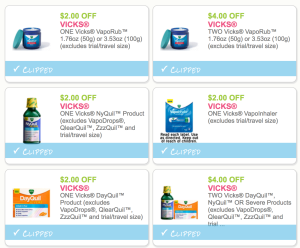 Lots Of New Medicine & Vitamin Coupons - Vicks, Ex-lax, Advil and MORE - OVER $60 In Savings