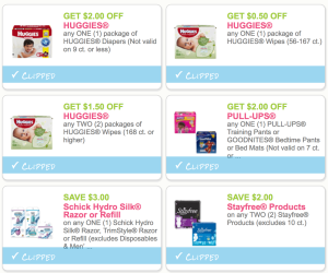 New Huggies Wipes & Diapers, Pampers Wipes, Always, Tampax, StarFree, Schick, & Mirlax Coupons - PRINT NOW