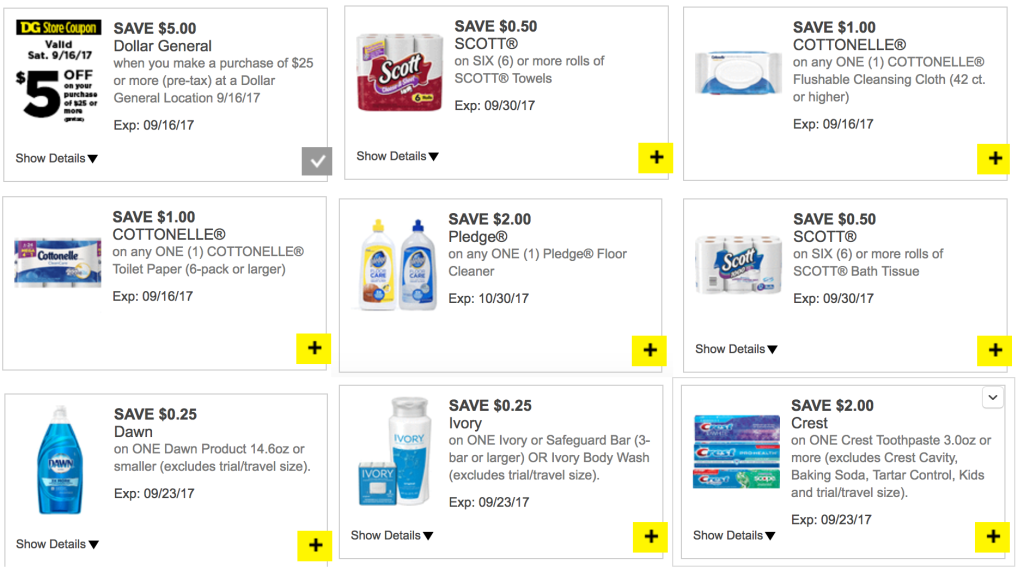DOllar general digital coupons