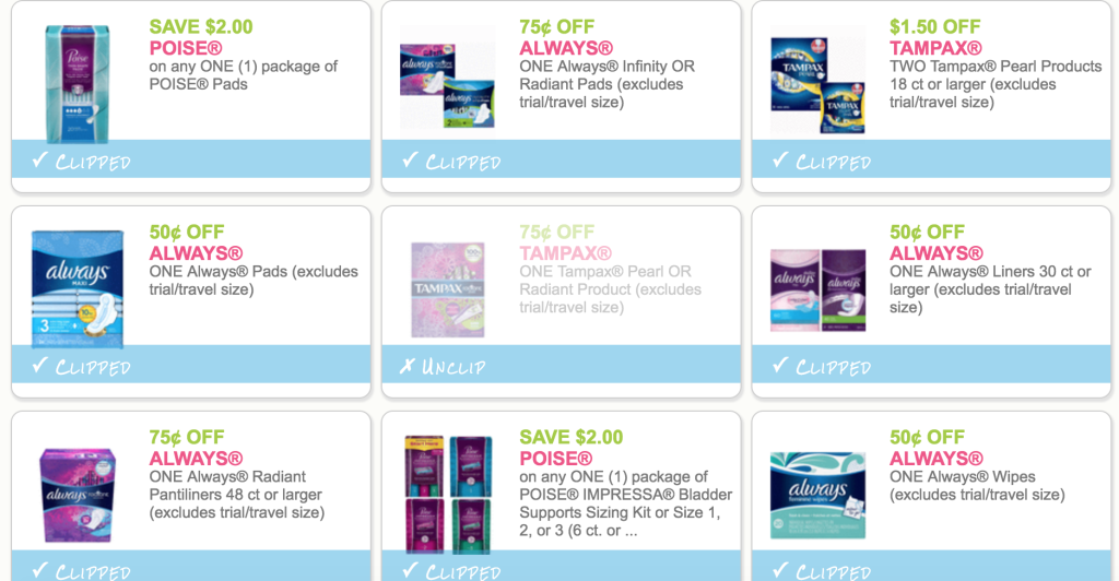 photograph relating to Kotex Printable Coupons titled Clean Generally, Tampax, U By way of Kotex, Huggies, Pampers, Relies upon