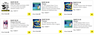 always tampax dollar general digital coupons