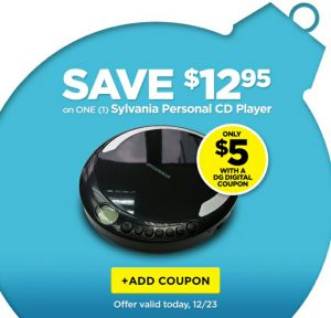 Dollar General 5 Personal CD Player Today Only