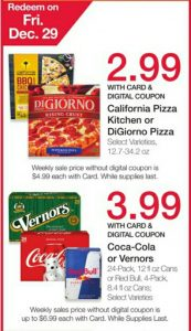 Kroger: Save on Digiorno, Coca-cola and More Friday 12/29 Only
