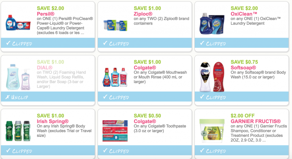 New Coupons Persil Oxiclean Irish Spring Soft Soap