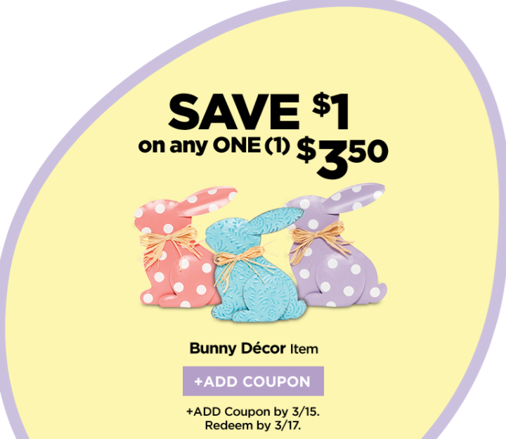 Dollar General: Save $1 On Any One $3.50 Bunny Decor Item
